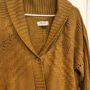 Comfy and cozy mustard yellow long sweater